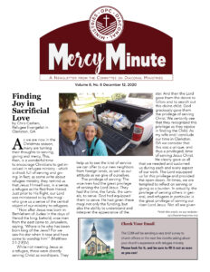 The Mercy Minute Newsletter for Deacons